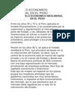EL MODELO ECONOMICO NEOLIBERAL EN EL PERÚ