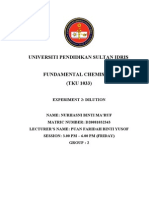 Exp 2 Chemistry