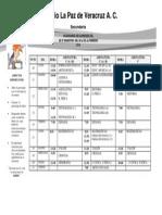 Calendario de Examenes Del 3er Bimestre 2013 2014
