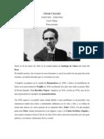 BIOGRAFIA  Y PRINCIPALES OBRAS DE CÉSAR VALLEJO