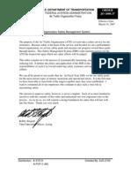 FAA Order - 1000.37 - Air Traffic Organization Safety Management System
