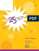 2009 Interaction Forum Program