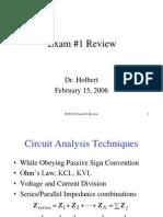 Ece 201 Exam 1 Review