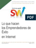 Que Hacen Las Empresas Que Tienen Exito en Internet