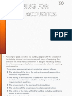 Planning for Good Acoustics