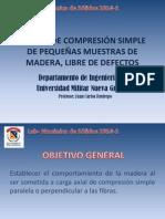 PRACTICA #4 - COMPRESION SIMPLE DE PEQUEÑAS MUESTRAS DE MADERA
