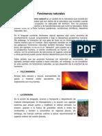 Fenomenos Naturales y Desastres Naturales