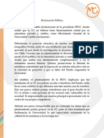 Declaración pública 2014