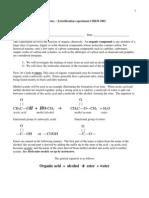 Organic Lab Esterification W14 CHEM1001