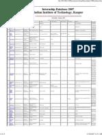 Internship Database