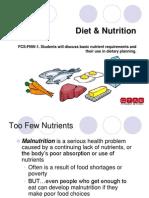 FCS FNW 6 DietAndNutritionPowerPoint