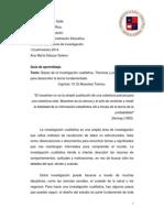 Guia de aprendizaje Tecnicas y procedimientos para desarrolla la teoría fundamentada