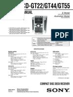 Sony Hcd-gt22 Gt44 Gt55
