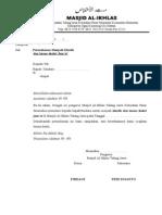 Surat Permohonan Jadi Khatib Al-Ikhlas