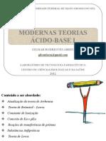 MODERNAS TEORIAS ÁCIDO-BASE I