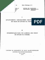 levantamento exploratório reconhecimento de solos do estado da paraíba 1972