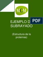 Ejemplo de Subrayado Estruct Proteinas