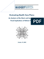 Evaluating Health Care Plans