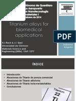 Biomateriales Aleaciones de Titanio