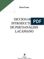 EVANS, Dylan. Diccionario introductorio de Psicoanálisis Lacaniano