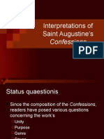 Interpretations of Saint Augustine's Confessions