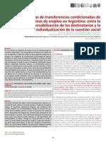 Cena_2014_Programas de Transferencias Condicionadas de Ingresos y Programas de Empleo en Argentina_ Entre La Responsabilizacion de Los Destinatarios y La Individualizacion de La Cuestion Social_SapiensResearch