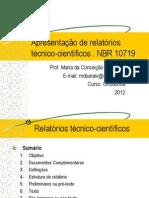 Relatorio Tecnico Cientifico ABNT 10719