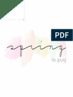 Spring Has Sprung Watercolor Art Print 5x7
