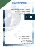 Presupuesto Crucero-jaione Halcon Viajes