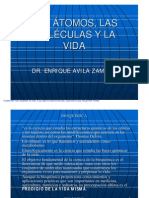 ATOMOS, MOLÉCULAS Y LA VIDA