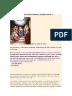LA VENIDA DEL ESPÍRITU SANTO Y PRIMERA CELEBRACIÓN DE LA EUCARISTÍA
