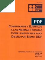 comentarios y ejemplos de las normas tecnicas complementarias para diseño por sismo DDF ES-7