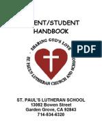 St. Paul's Lutheran School Handbook