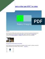 10 consejos para evitar que iOS 7 se coma tu batería
