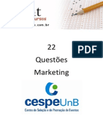 22 - Questoes CESPE - Marketing