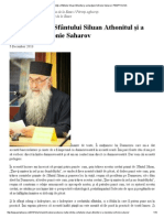 Înalta ştiinţă a Sfântului Siluan Athonitul şi a stareţului Sofronie Saharov _ PEMPTOUSIA