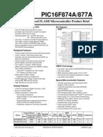 Datasheet 16F877A