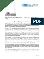 356. Tax Rule for Airport Terminal Fees RMP 8.10.12(1)