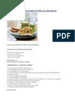 Receta-Ensalada de Pollo a La Mandarina