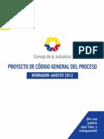Código General del Proceso - Borrador Agosto 2012