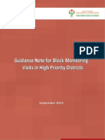 Guidance Note for Block Monitoring Visits in High Priority Districts