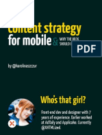 Content Strategy for Mobile