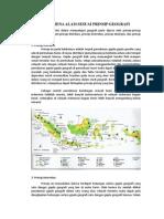Fenomena Alam Sesuai Prinsip Geografi