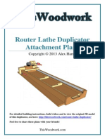 Router Lathe Duplicator Attachment Plans
