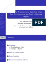 Processamento Digital de Sinais Aula01 Simas Ufba