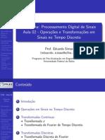 Processamento Digital de Sinais Aula02 Simas Ufba