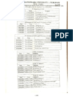 LLM Time Table