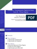 Processamento Digital de Sinais Aula03 Simas Ufba