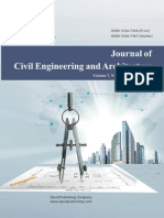 Issue 8, 2013 Journal of Civil Engineering and Architecture
