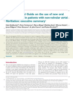 EHRA Practical Guide on the Use of New Oral Anticoagulants in Patients With Non-Valvular Atrial Fibrillation - Executive Summary - Eur Heart J 2013